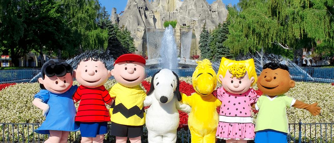 Peanuts characters at Canada's Wonderland