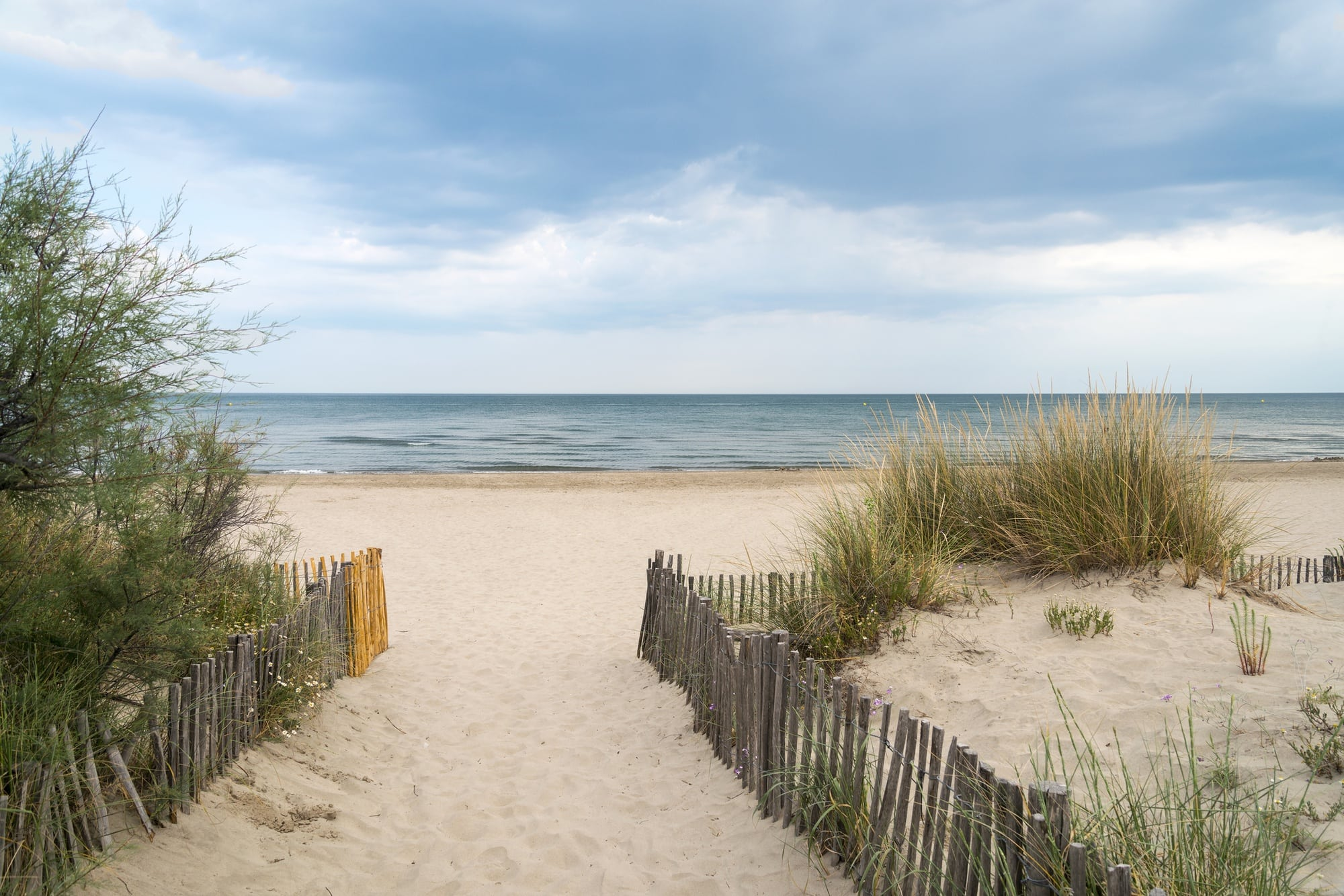 One of the sandy beaches near Montpellier
