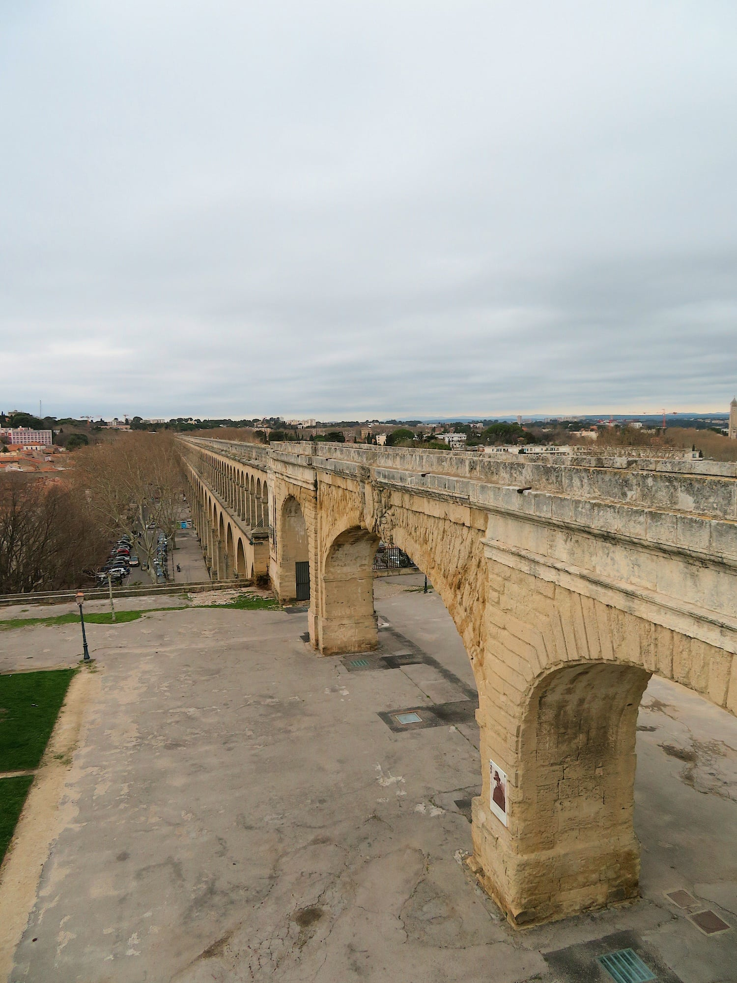 Aquaduc Saint-Clement in Montpellier, France was inspired by the famous Pont du Gard aquaduct