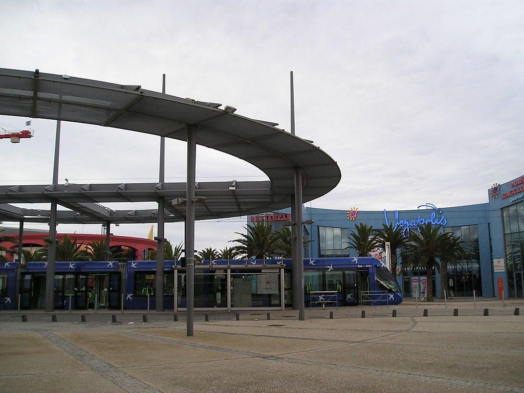 Odysseum tram station in Montpellier