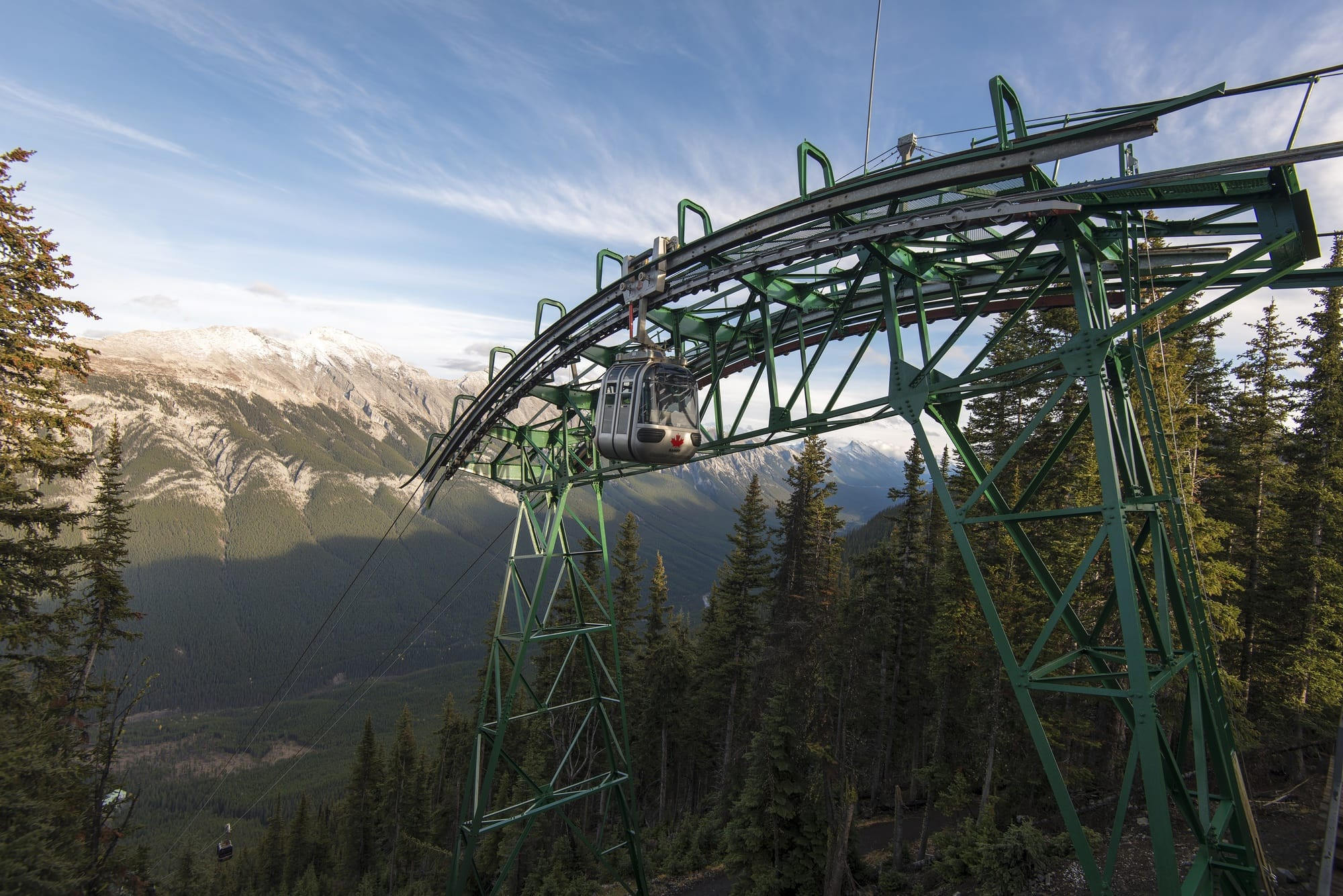 Ride the Banff Gondola with the kids to take in the beauty of Banff from Sulpher Mountain