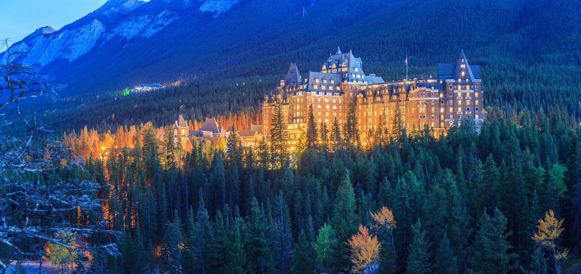 The swanky Fairmont Banff Springs is the most famous resort in the area