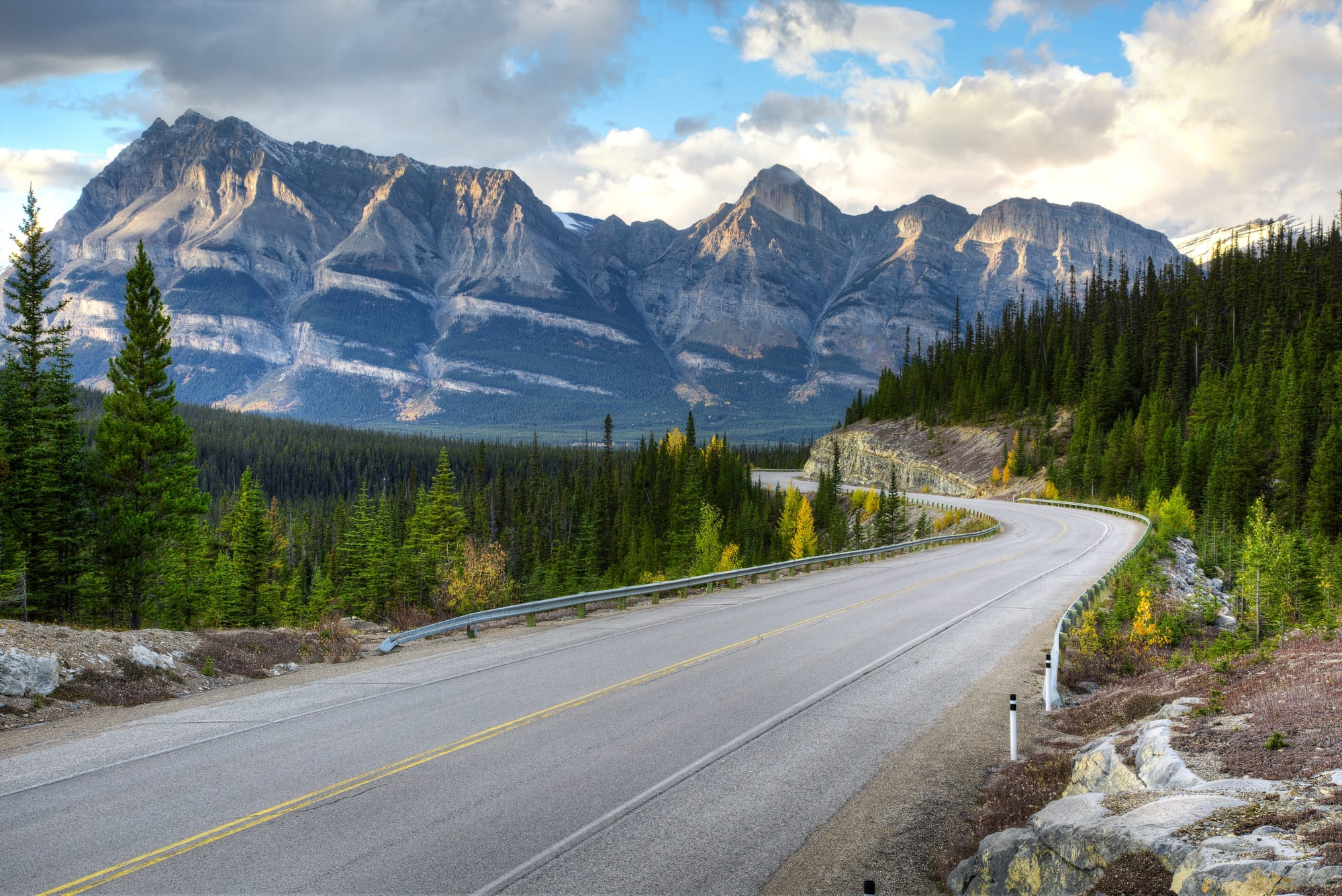 Exploring Banff by bus or car is a relaxing option for families