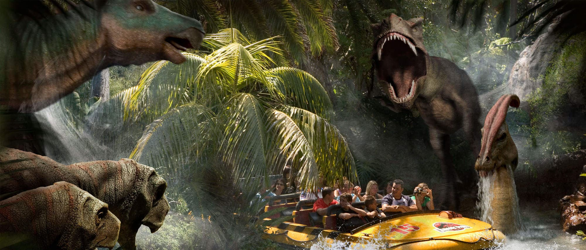 Jurassic Park – The Ride uses 1.5 million gallons of water!