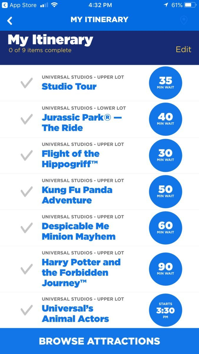 It's easy to plan your day at Universal Hollywood Studios with kids with the Universal Studios Hollywood Official App