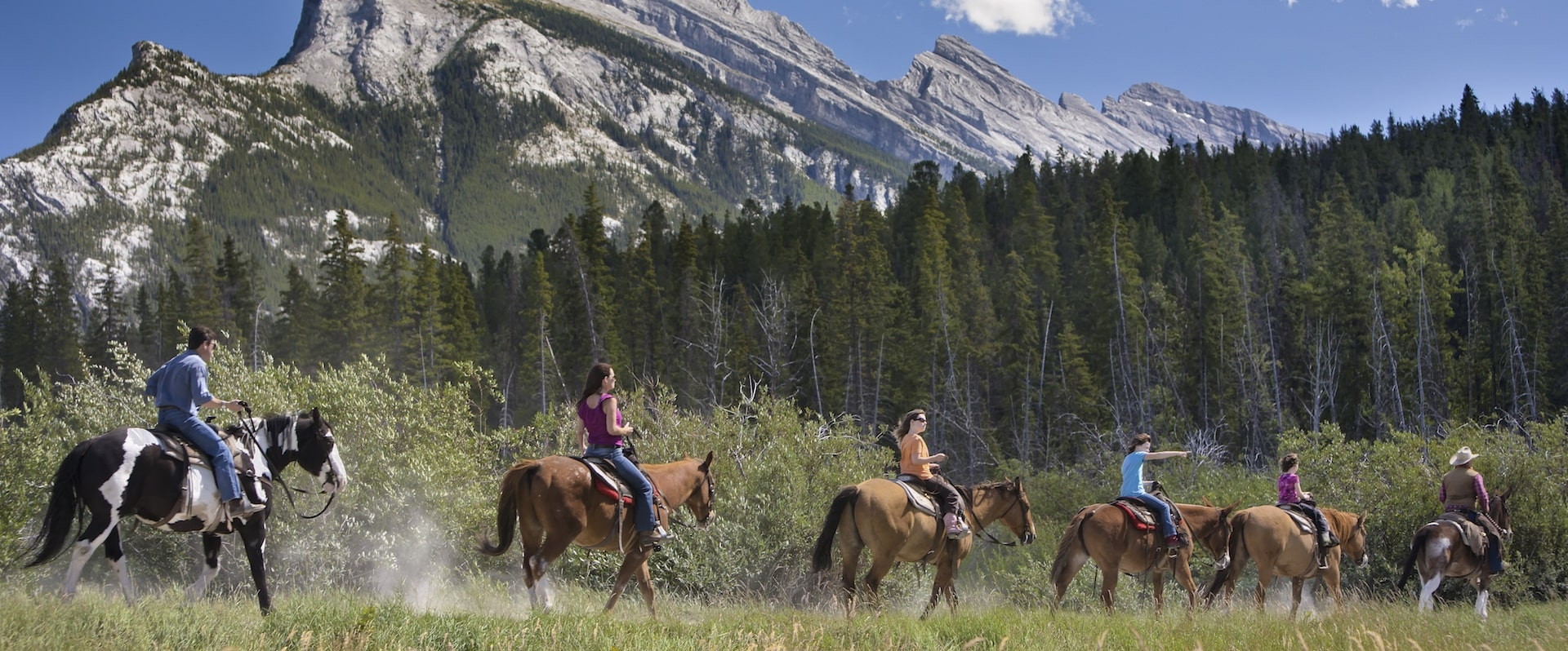 Enjoy Banff's beauty on the back of a horse
