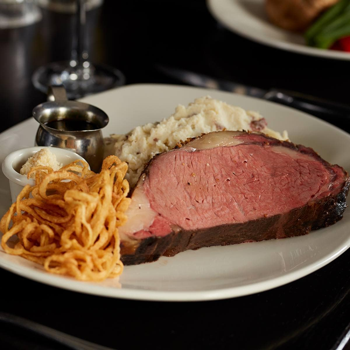 Hearty dishes like prime rib reign supreme at the Keg Steakhouse in Banff