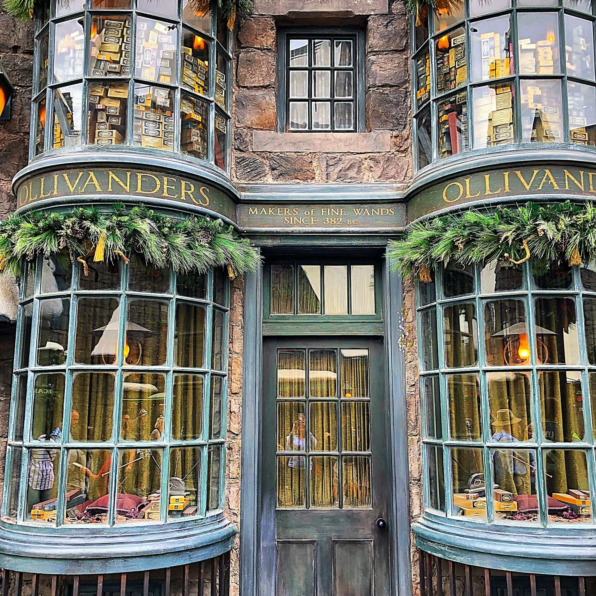 Wizards and witches will want to select a wand at Ollivanders