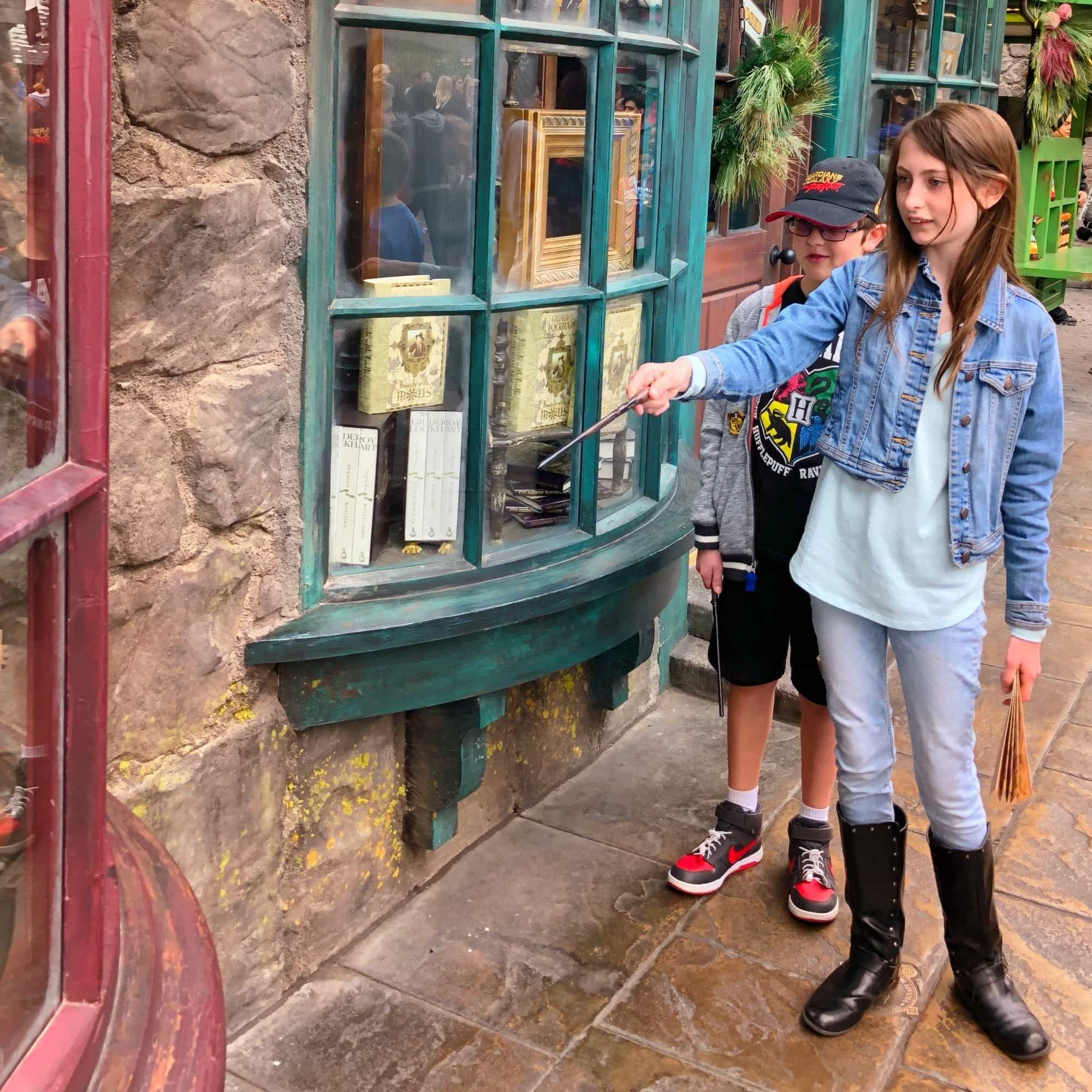 Use wands from Ollivander's to make magic throughout the Wizarding World of Harry Potter