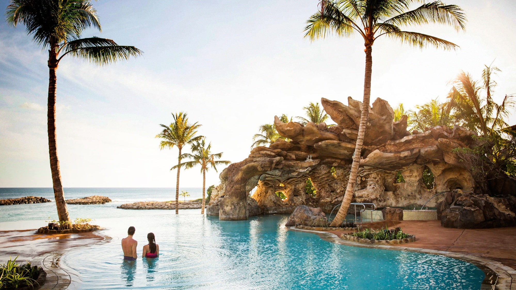 Ka Maka Landing is an infinity pool with incredible views at Aulani