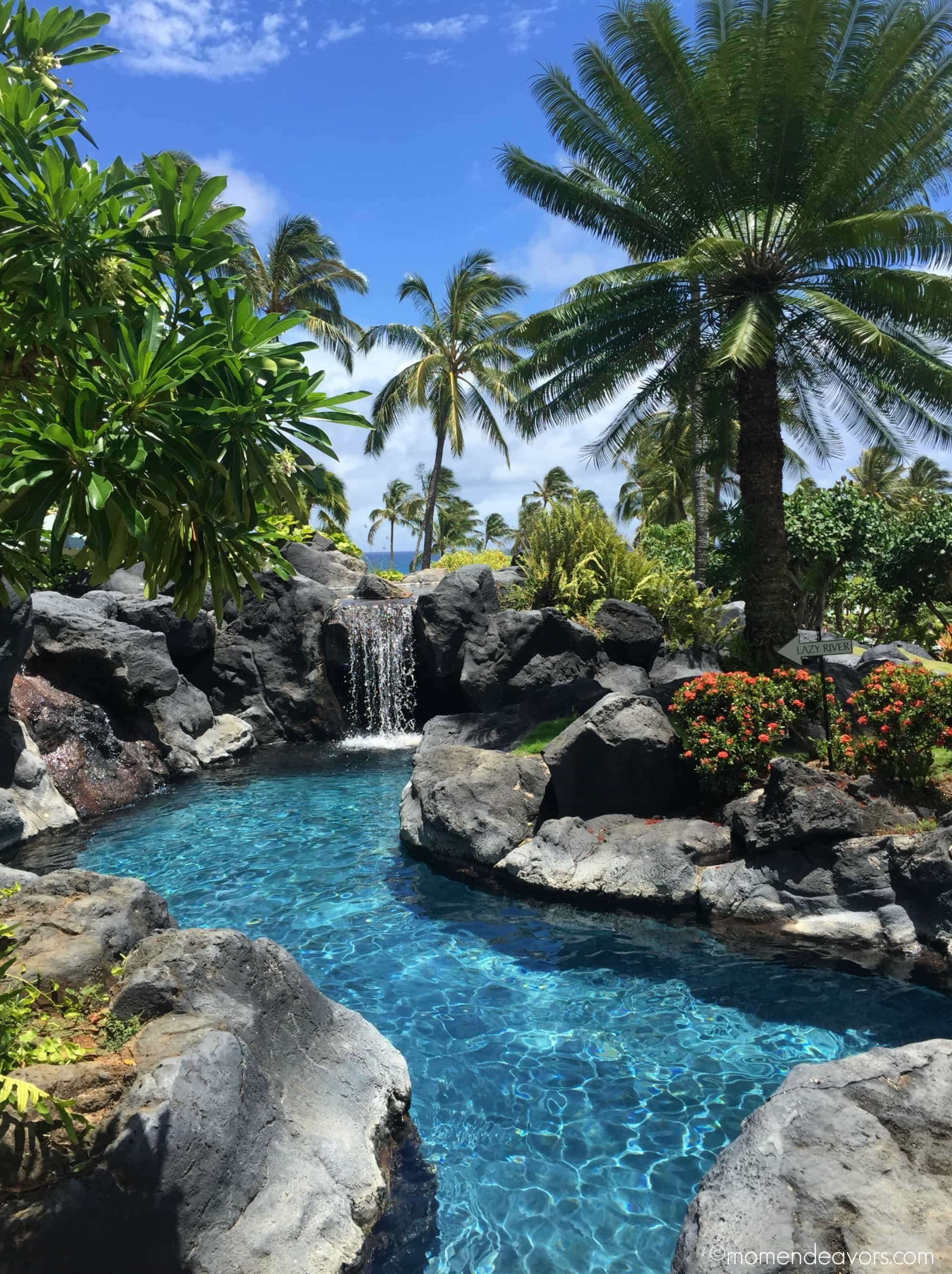 Grand Hyatt Kauai's lazy river ~ Best hotels with lazy rivers