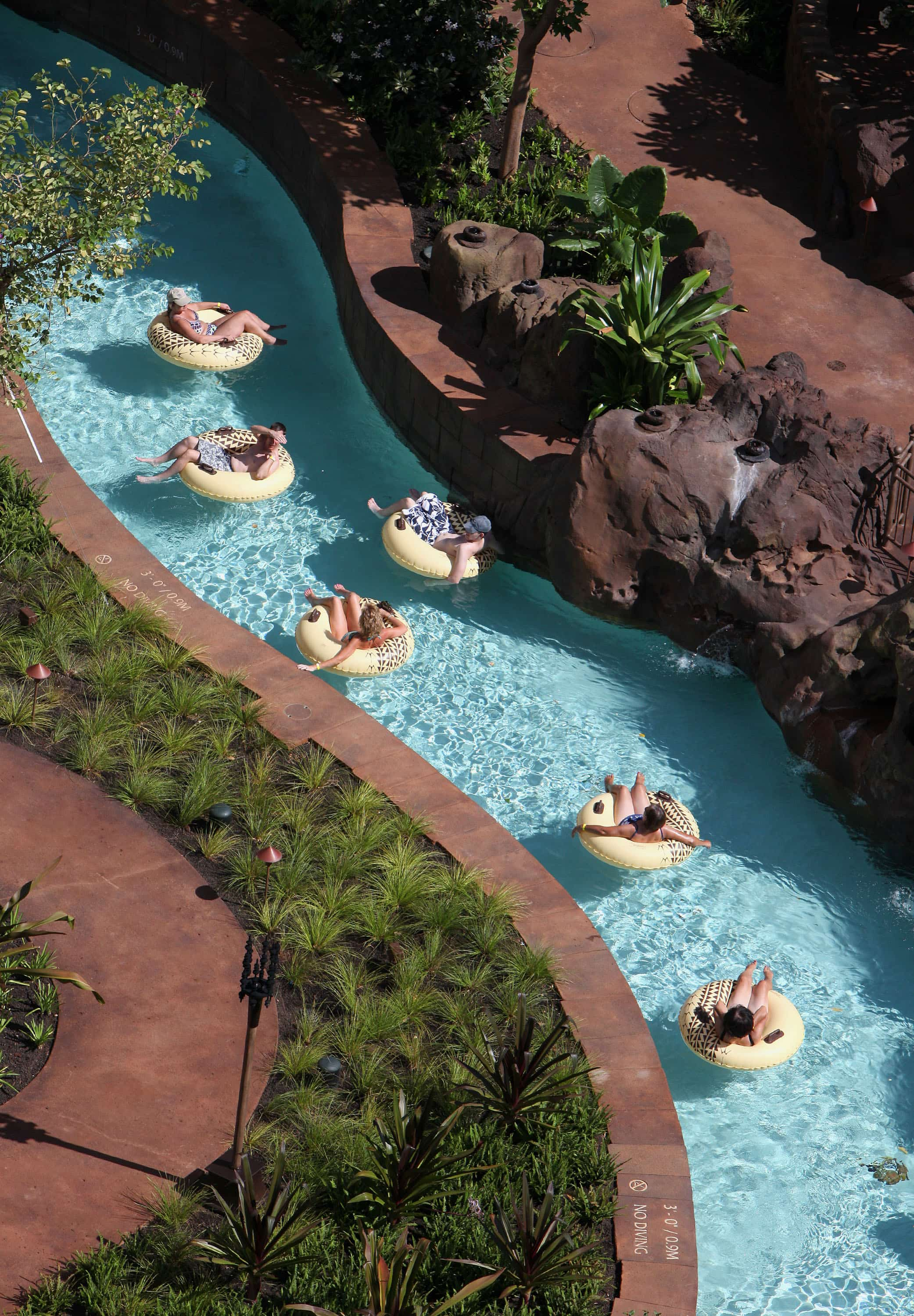 Float away the day on Waikohole Stream lazy river at Aulani