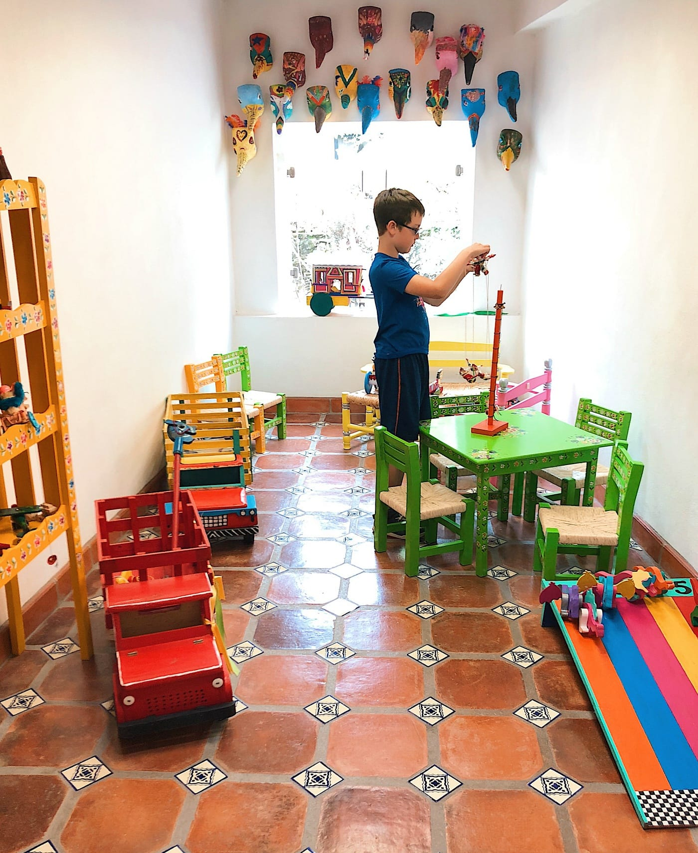 The play room at La Esquina Museo del Juguete Popular Mexicano was my kids' favorite part!