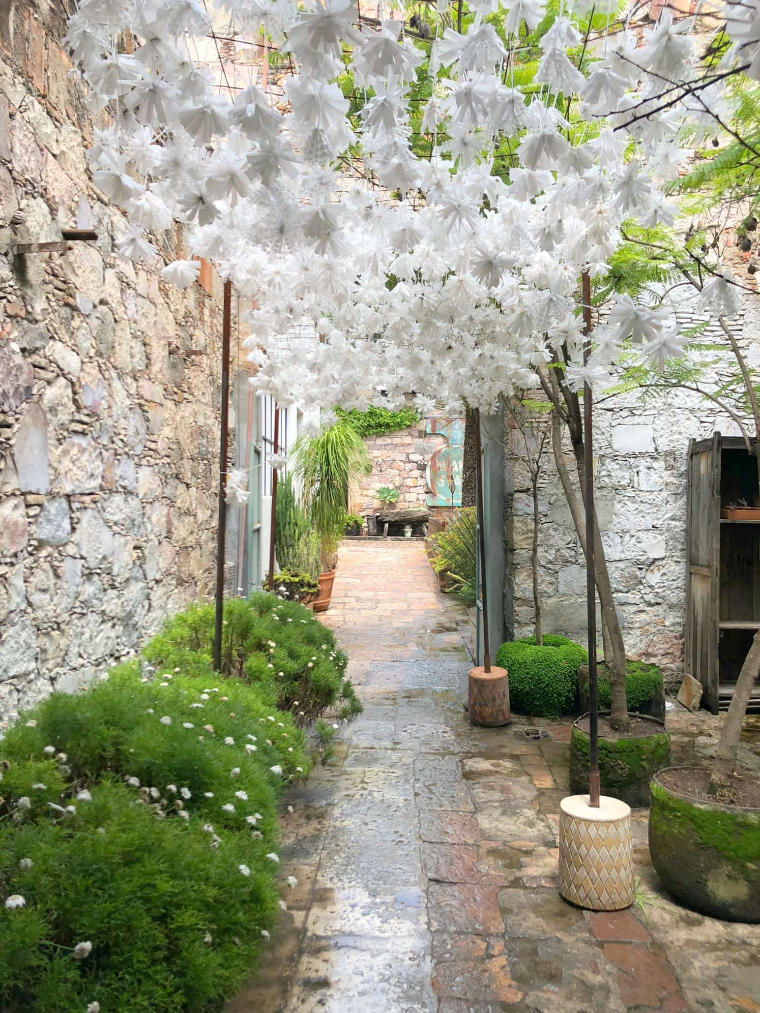 Fabrica la Aurora is a beautiful place to wander in San Miguel de Allende with kids