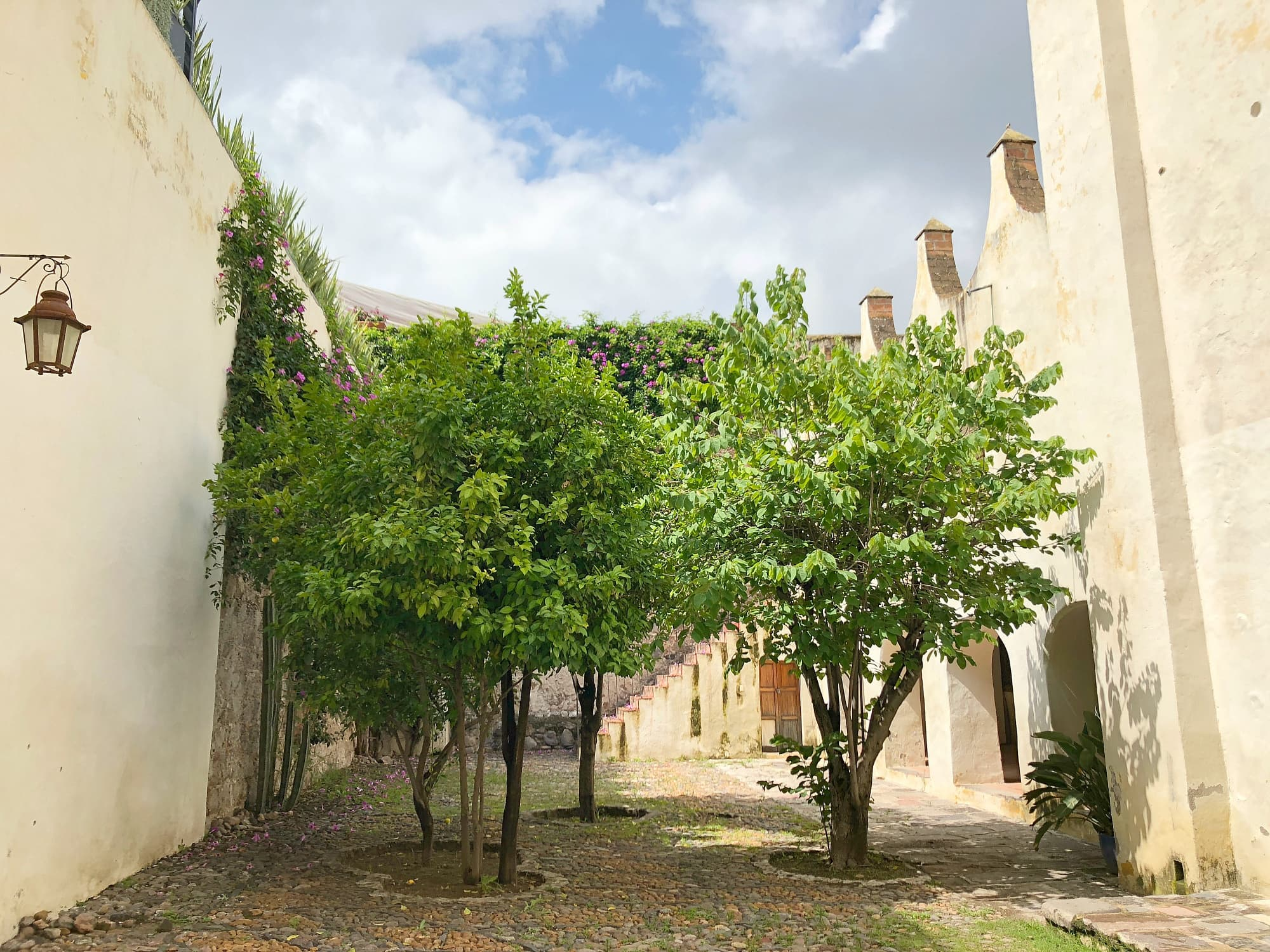 A courtyard at Museo de San Miguel de Allende, former residence of one of the city's namesakes, Ignacio Allende
