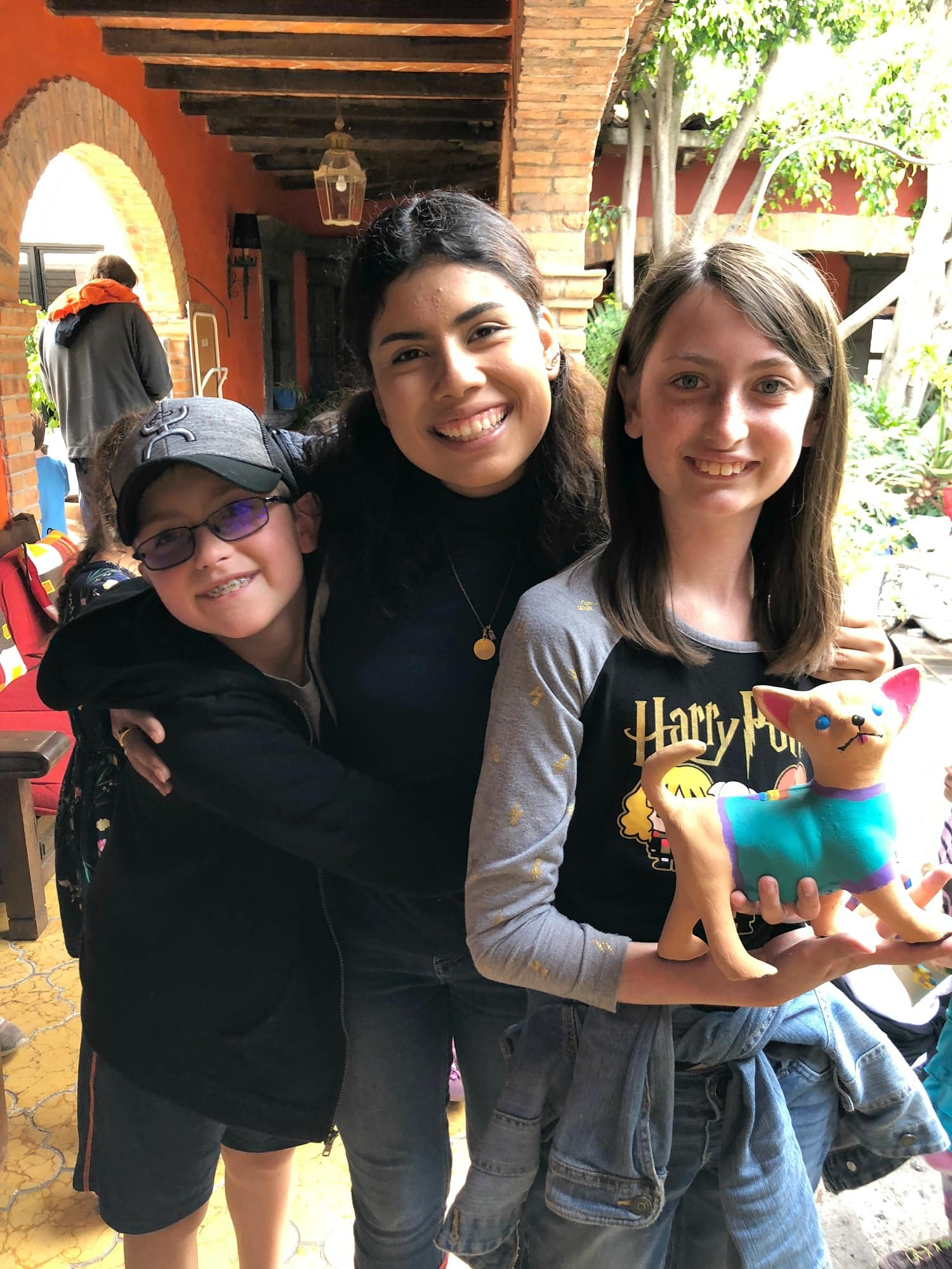 My kids with their beloved instructor, Monica Centro Mexicano de Lengua y Cultura in San Miguel de Allende