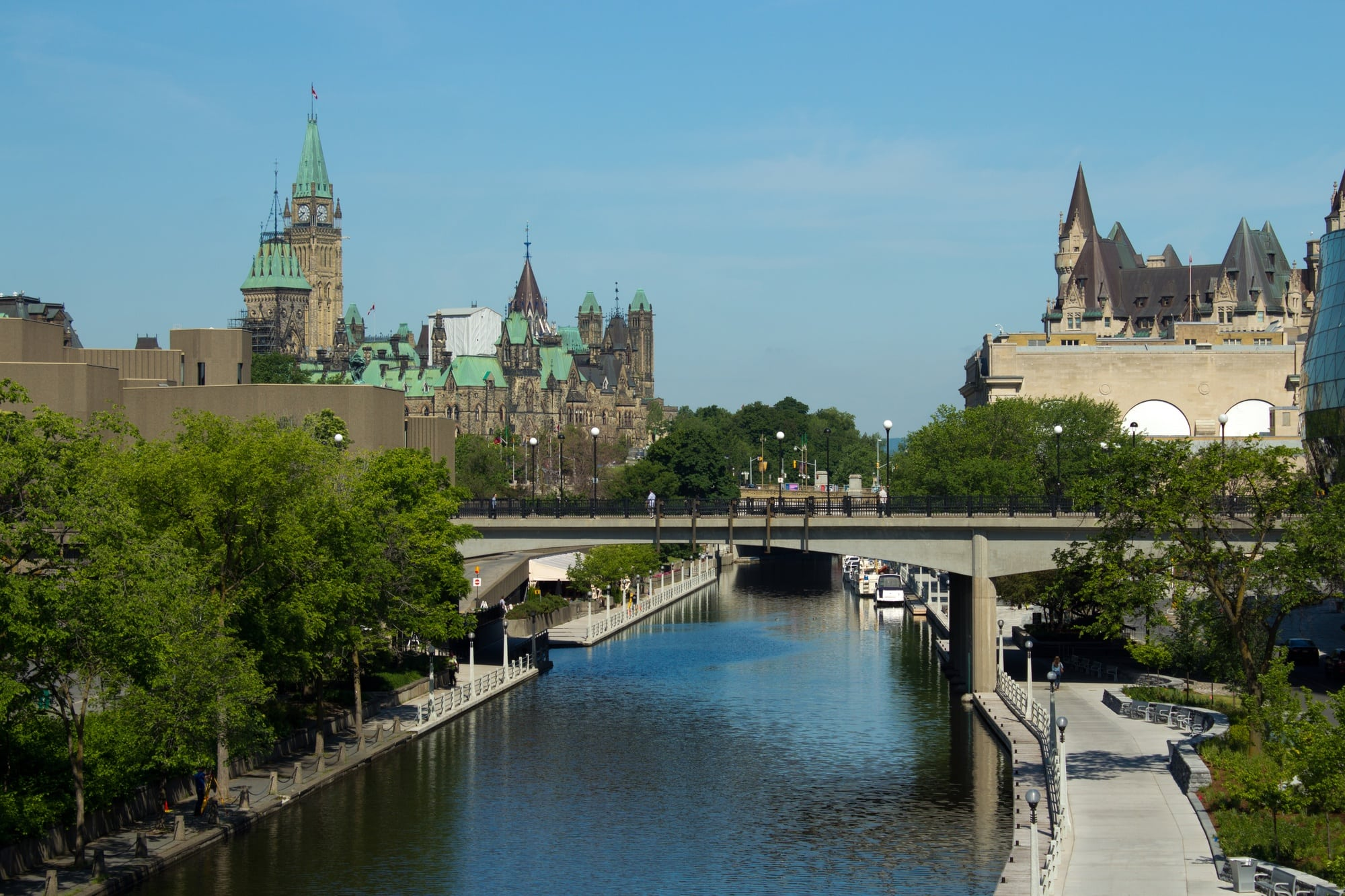 The Rideau Canal is a National Historic Site of Canada and a UNESCO World Heritage Site