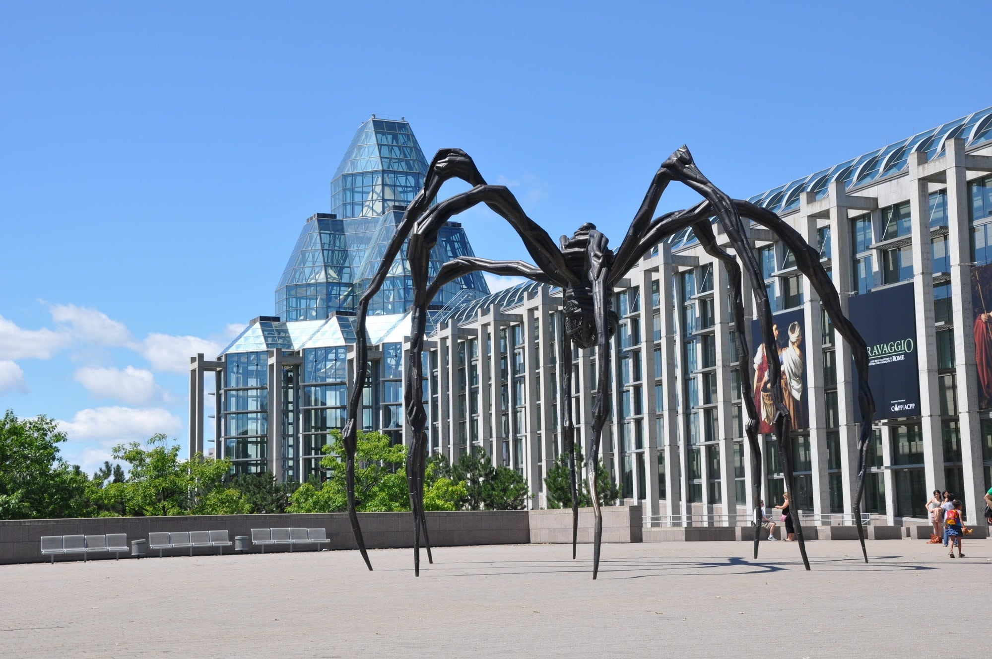 "It's hard to miss the ""Maman"" spider sculpture in front of the National Gallery"