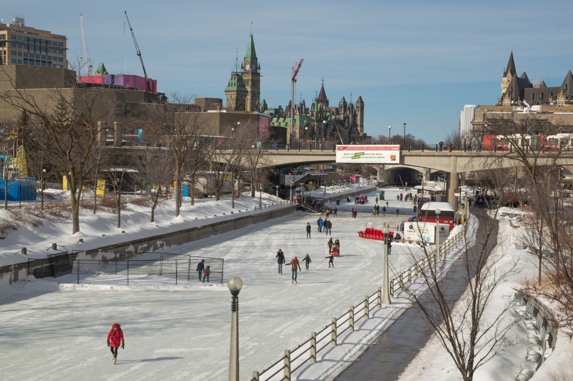 Take your kids ice skating on the Rideau Canal in winter