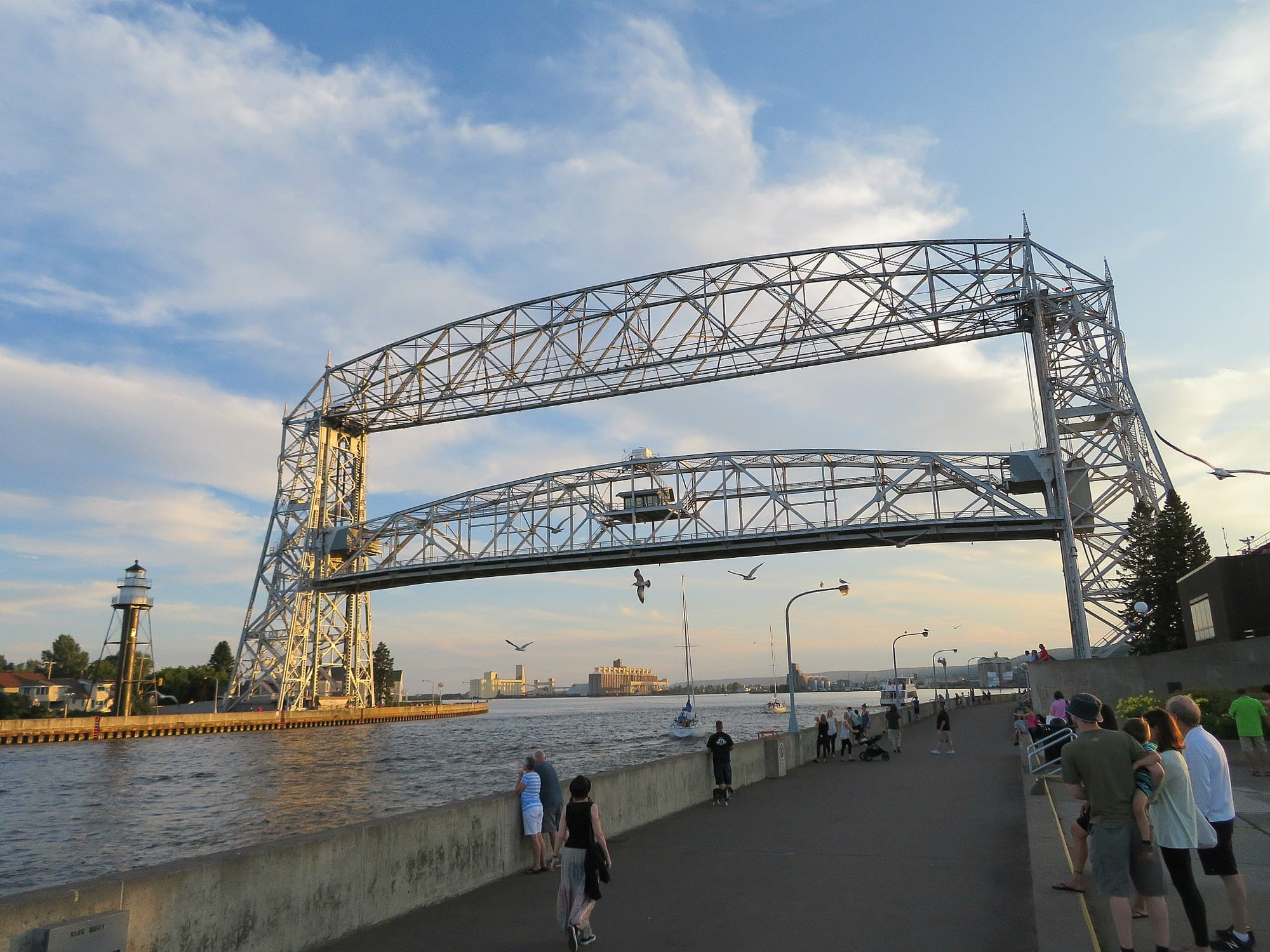Kids love to watch the Aerial Bridge lift and lower to allow ships passage to Lake Superior