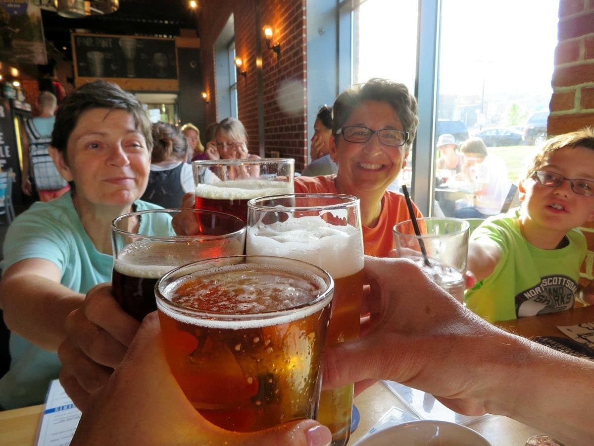 Canal Park Brewing Company in Duluth with kids