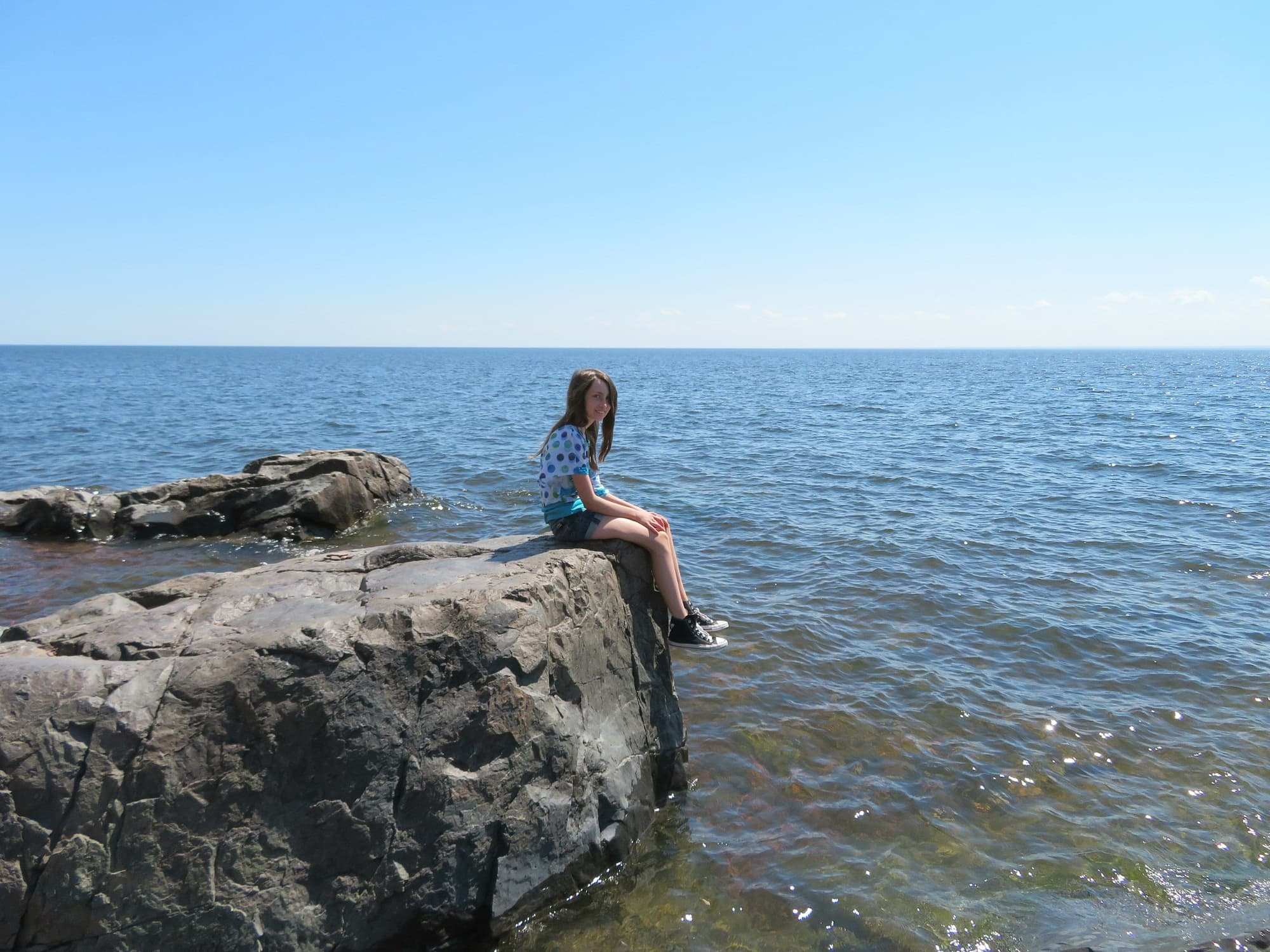 Lake Superior is the focal point of Duluth with kids