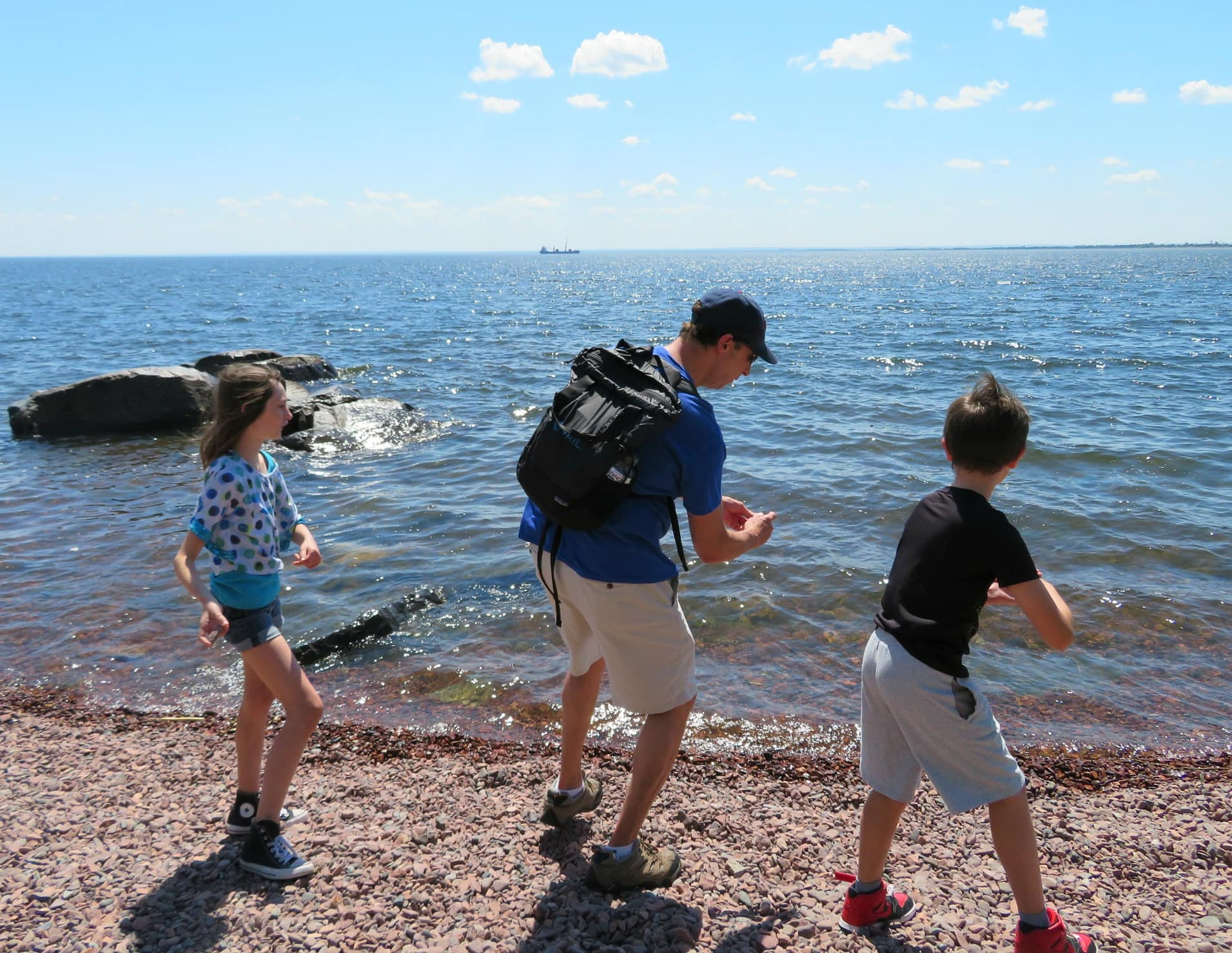 My husband taught our kids how to skip rocks along the shores of Lake Superior