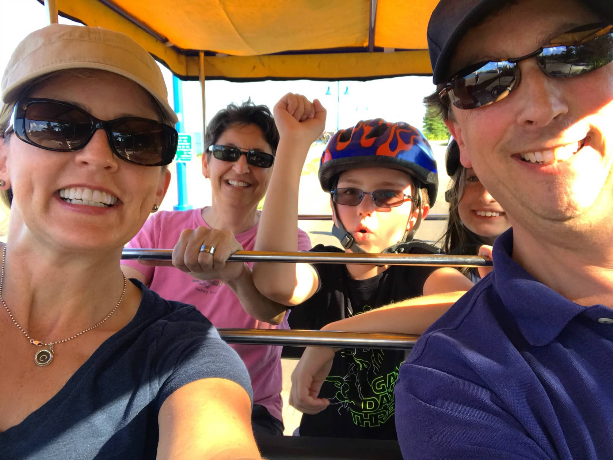 Wheel Fun surrey rental in Duluth with kids