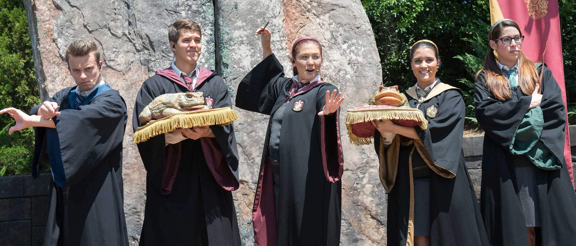 Keep your eyes and ears open for the Frog Choir at Harry Potter Universal Studios