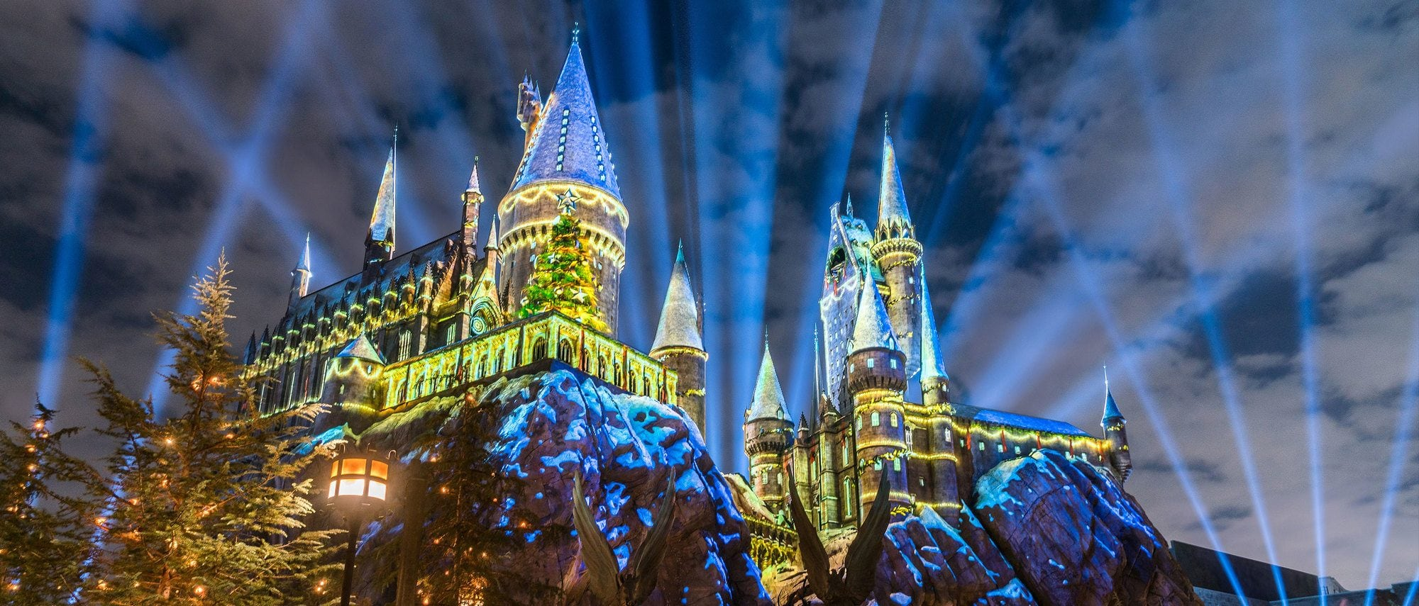 The Wizarding World of Harry Potter at Universal Studios Hollywood is especially enchanting during the winter holidays