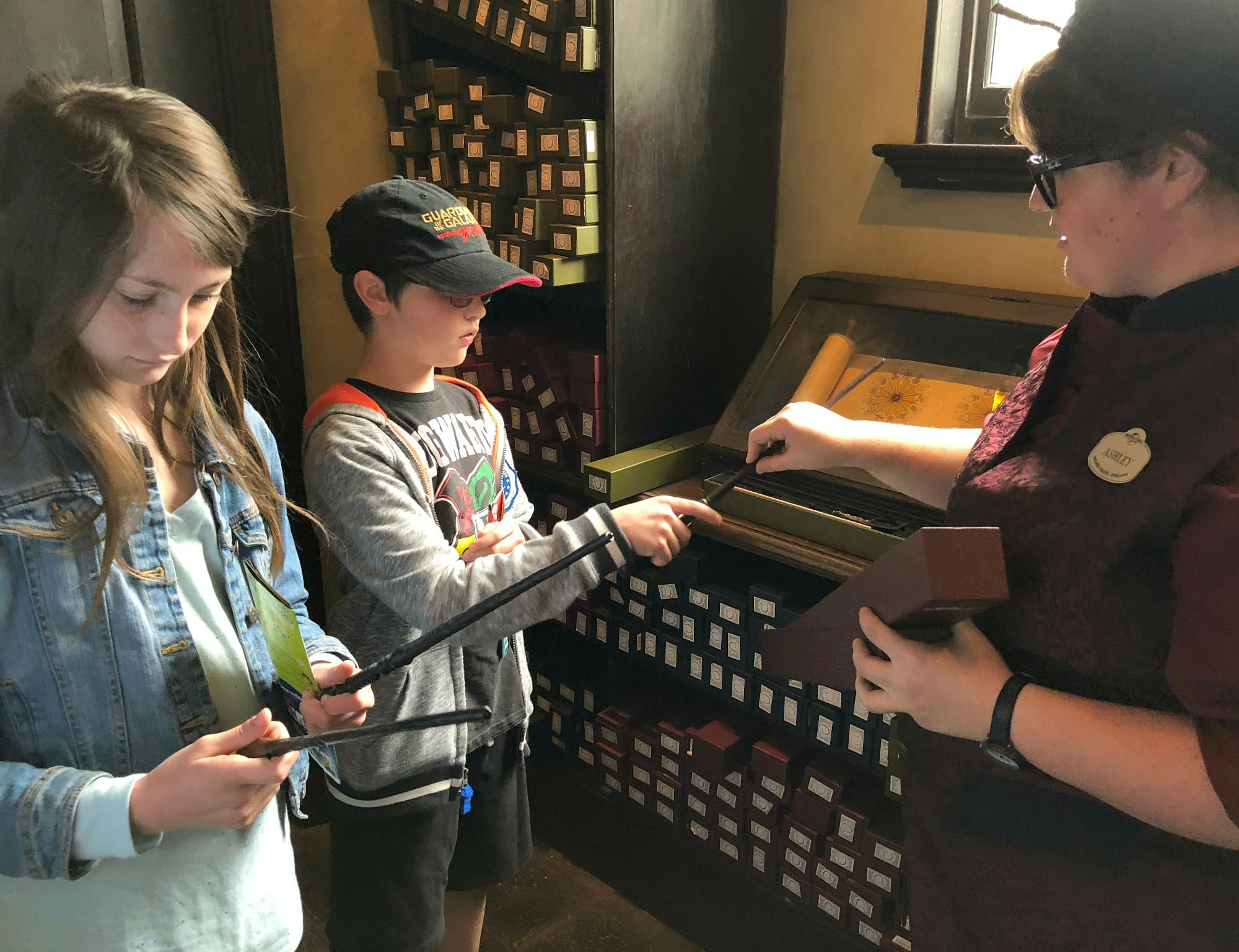 Even if you don't attend a wand choosing ceremony, the friendly staff at Ollivanders will help you determine the correct wand for you and your little wizards