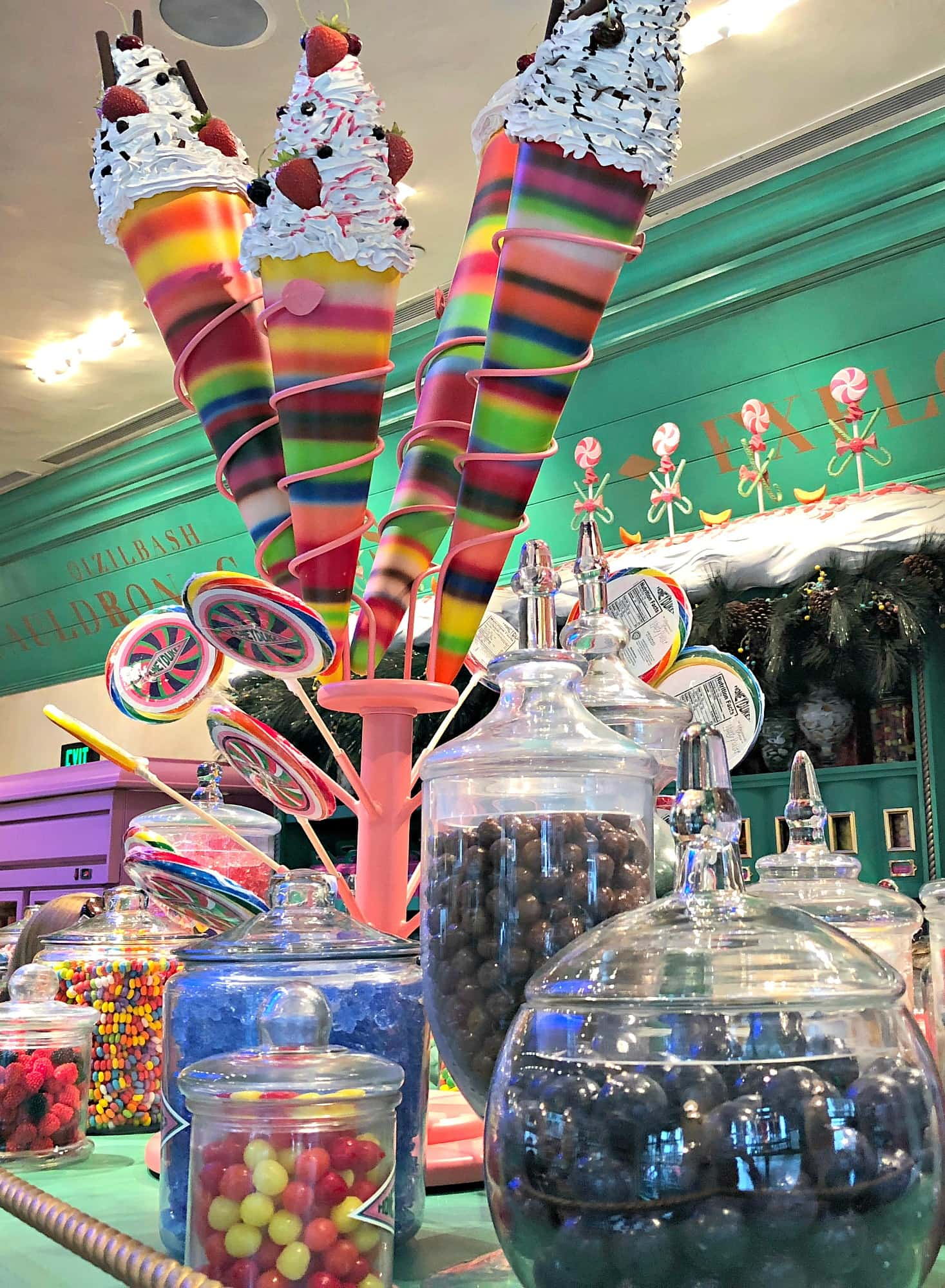 Honeydukes will tempt your sugar tooth at the Wizarding World of Harry Potter at Universal Studios Hollywood