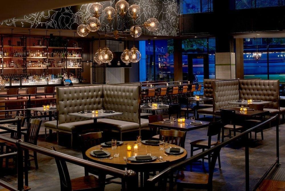 The hip Outlier restaurant at Kimpton Hotel Monaco Seattle