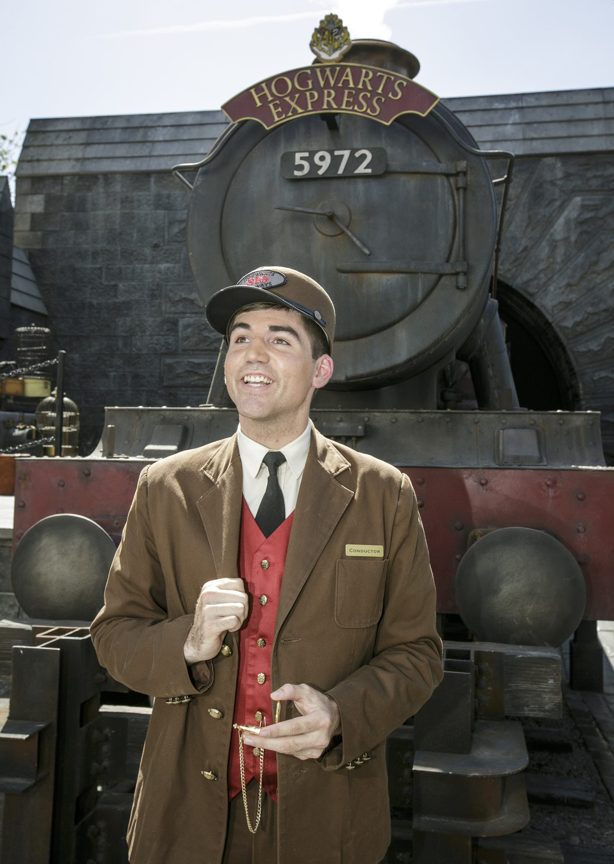 Get your photo in front of Hogwarts Express at the Wizarding World of Harry Potter at Universal Hollywood