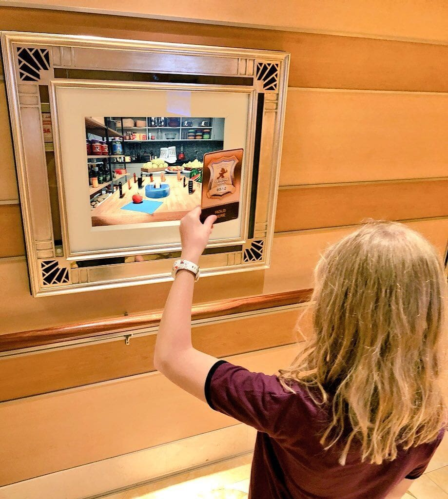 Animated art aboard Disney Dream with kids