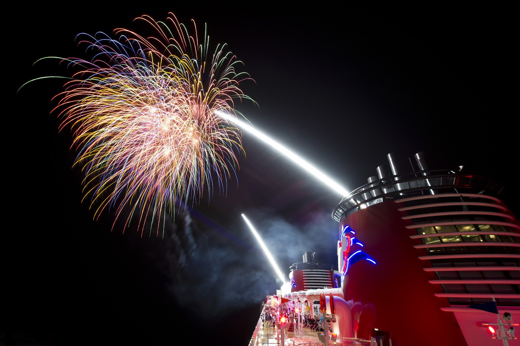 Disney is the only cruise line to offer fireworks at sea