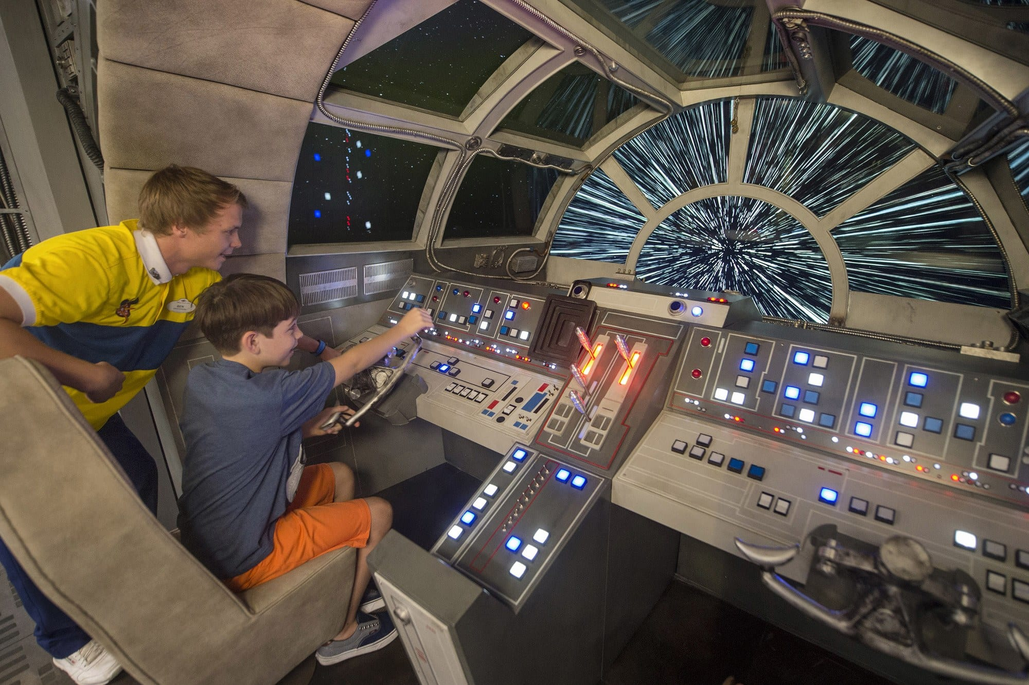 Aboard Disney Dream, kids are transported to a far away galaxy at Star Wars: Millennium Falcon, a Force-filled play area inspired by the spacecraft from the legendary saga