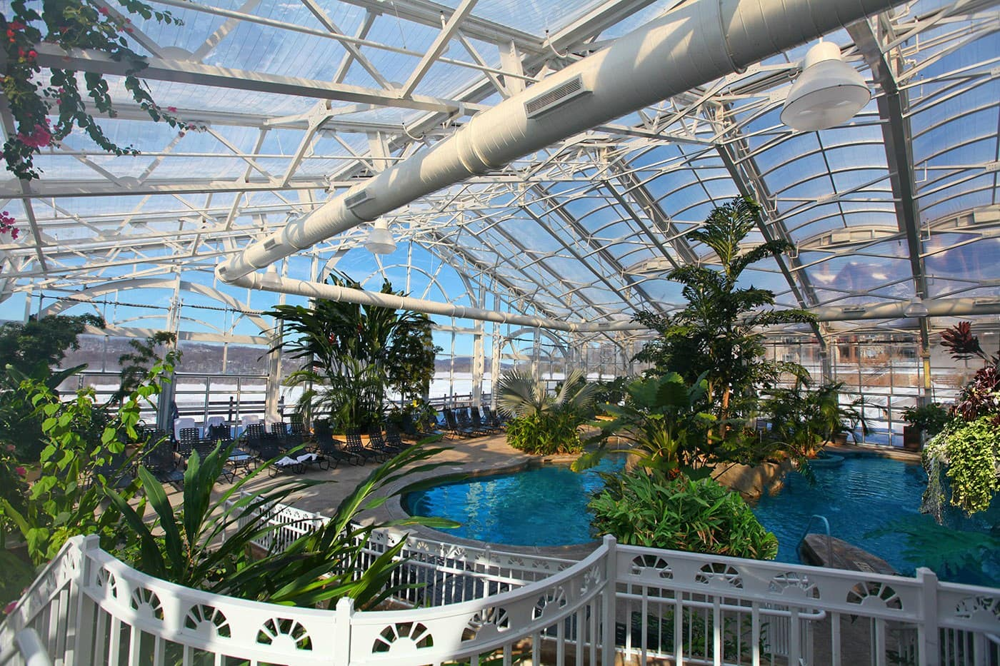 Tropical Biosphere Pool at the Grand Cascades Lodge in Northern New Jersey ~ Best Indoor Hotel Pools