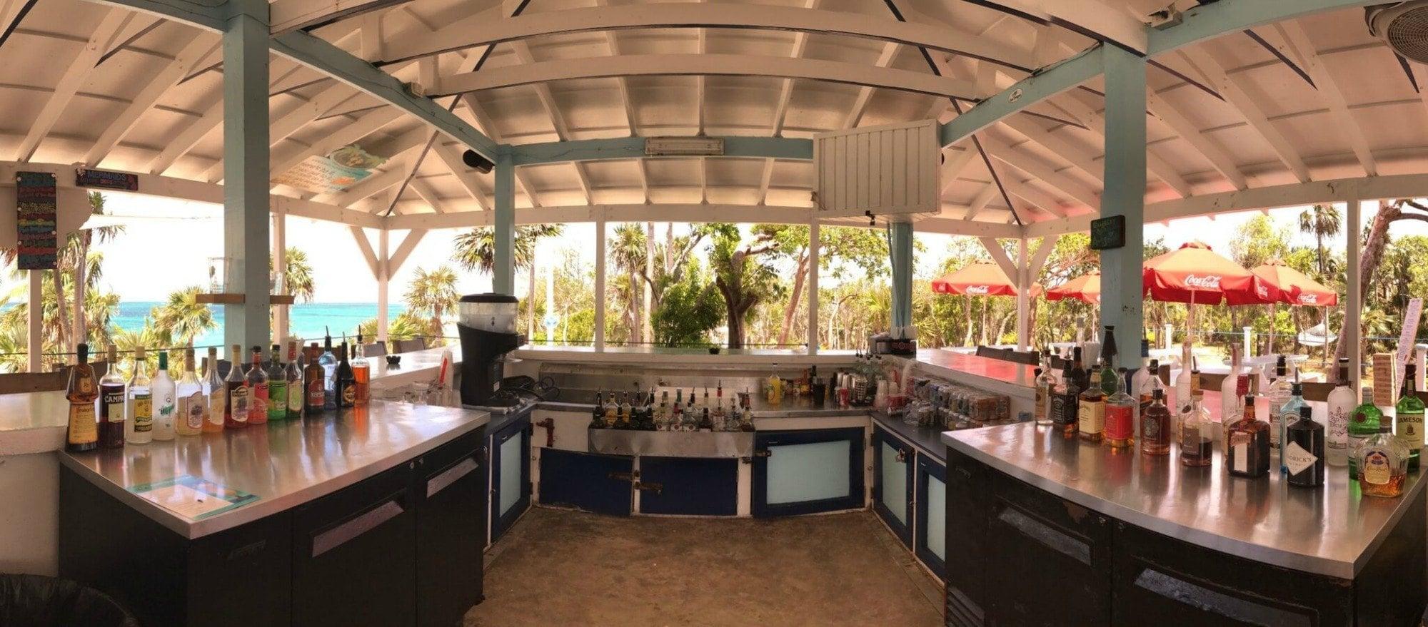 Bachelorette party bar at Sandy Toes Bahamas