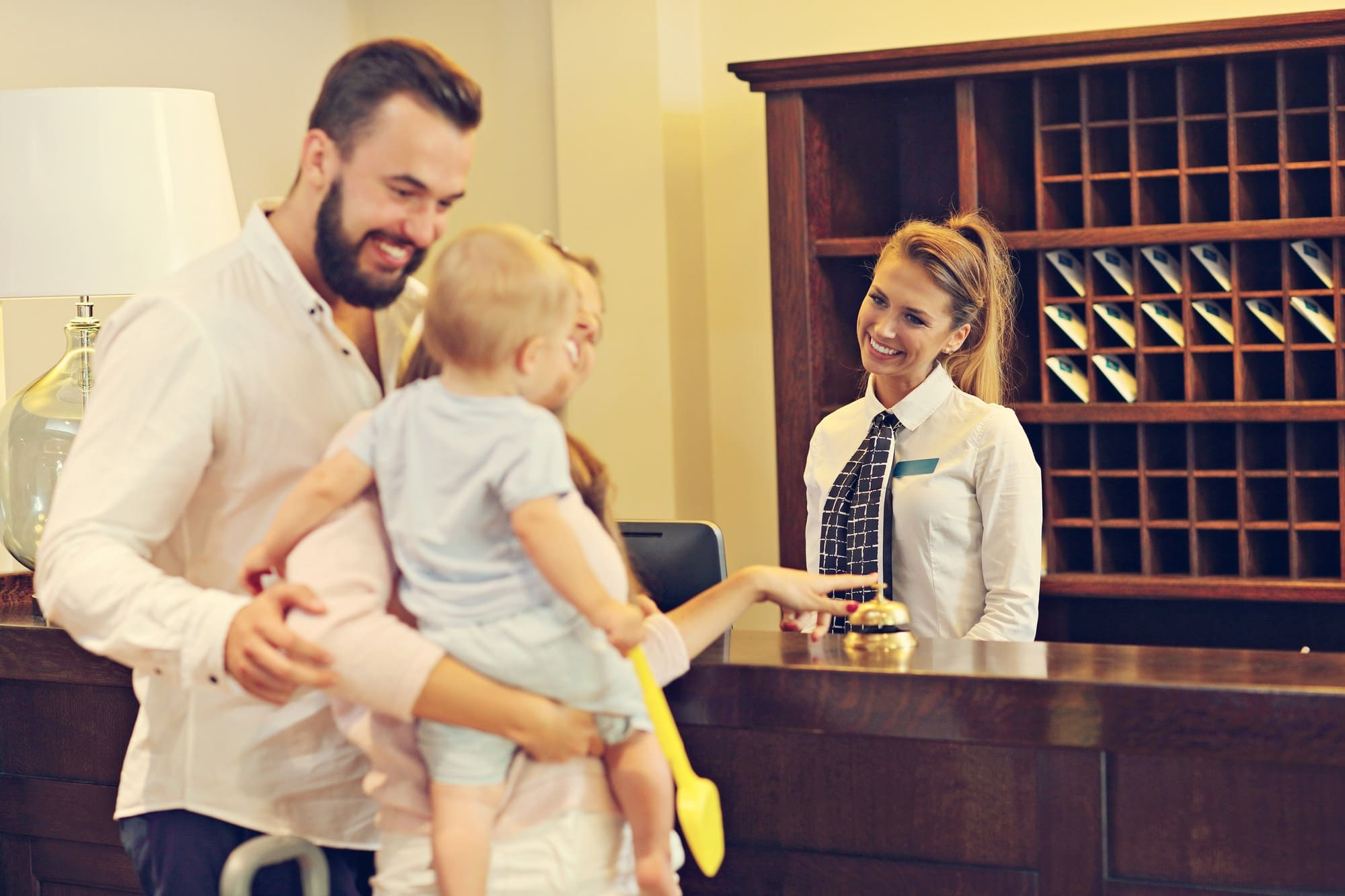 Many hotels welcome babies and children at no charge