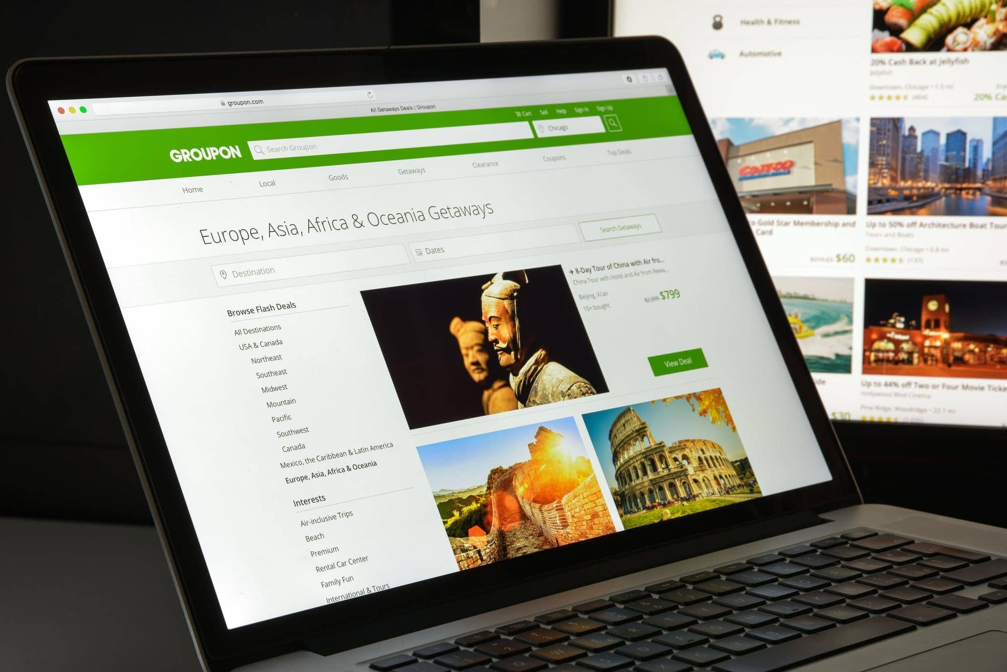 Do a search for Groupons in your destination to save money during your travels