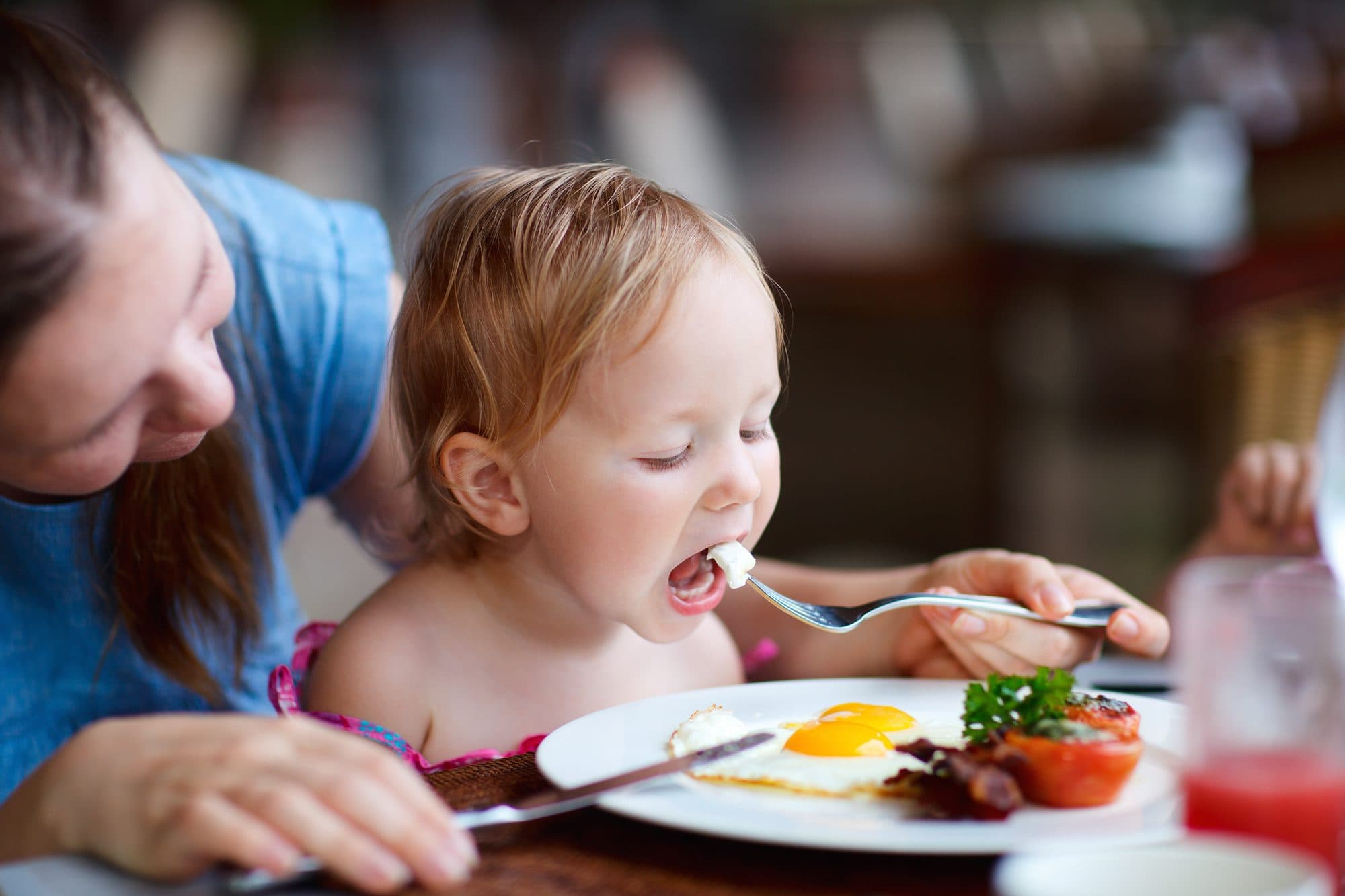 Little kids often eat free at hotel restaurants