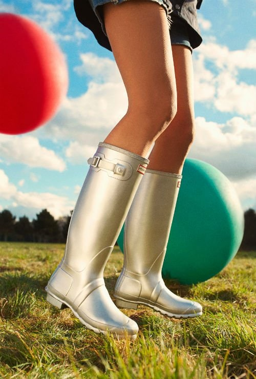 Hunter rain boots are stylish AND keep feet dry during Florida rainstorms! (Photo credit: Hunter)
