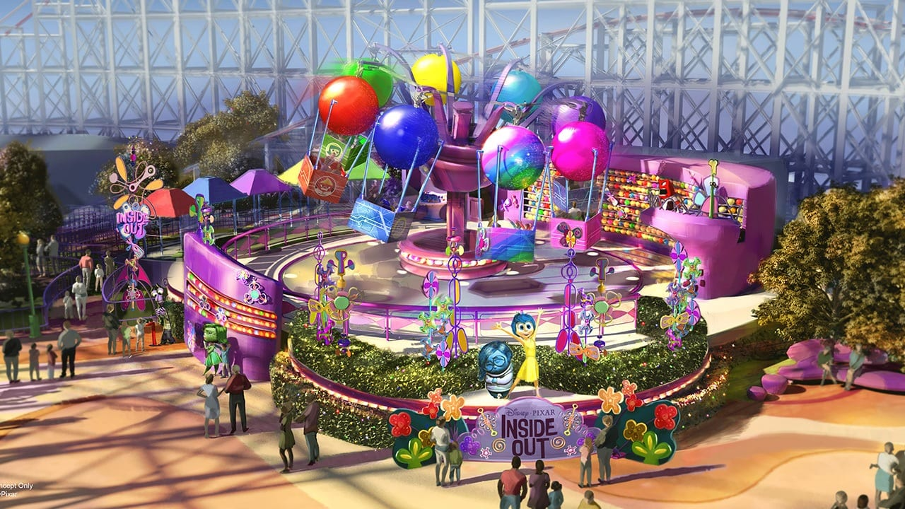 Inside Out Emotional Whirlwind is coming to Disney California Adventure Park in 2019