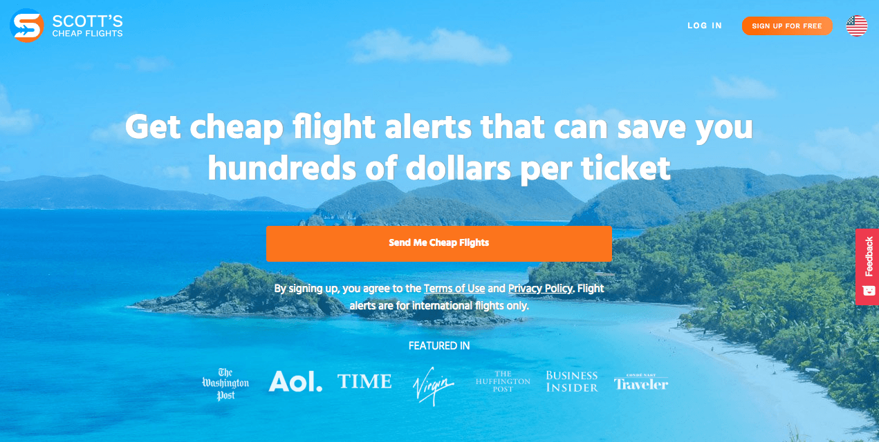 Scott's Cheap Flights has saved my family tons of money on air travel