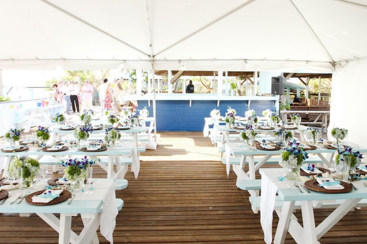 Wedding dinner at Sandy Toes Bahamas