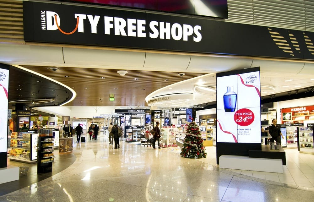 Hit up Duty Free rather than lugging heavy liquids onto your flight with kids