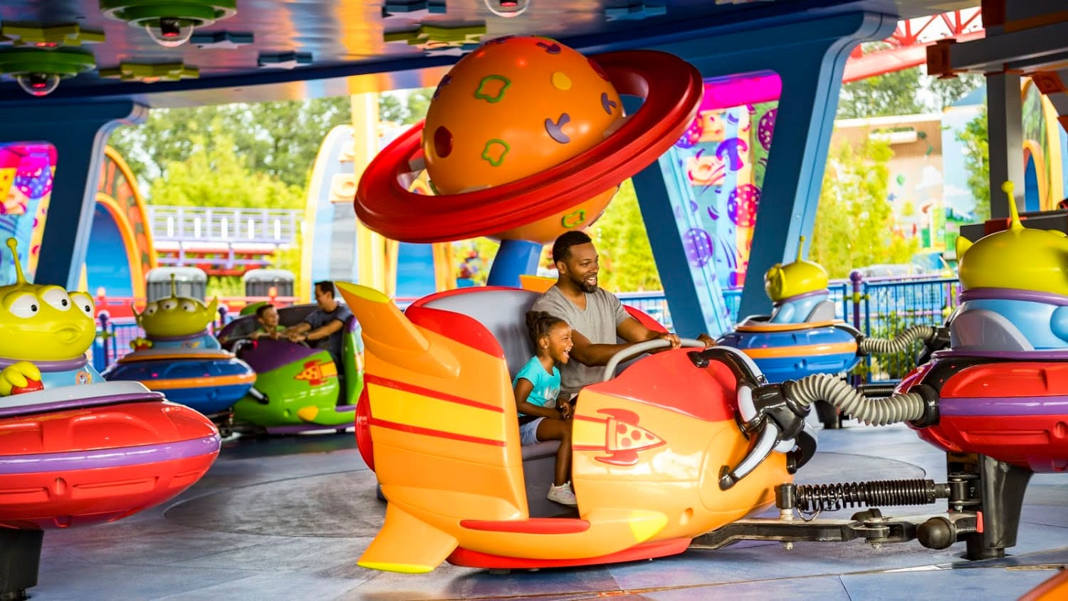 Alien Swirling Saucers at Disney Hollywood Studios with Little Kids