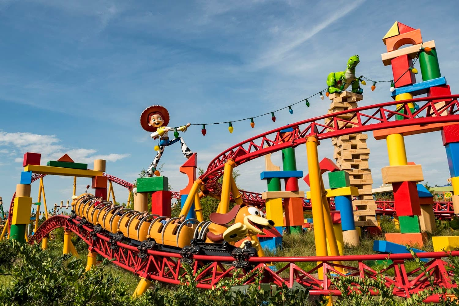 Slinky Dog Dash at Toy Story Land at Disney's Hollywood Studios with Young Children