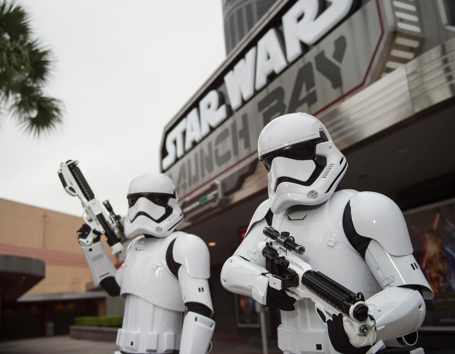 Storm Troopers at the Star Wars Launch Bay at Disney's Hollywood Studios with Kids